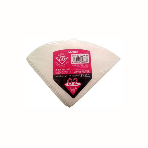 Hario V60 Coffee Filter Papers Size 02 - White (100 Wrapped)