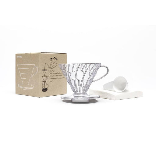 Hario V60 Coffee Dripper Set Transparent