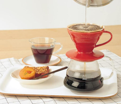 Hario V60 Ceramic Coffee Dripper Red - Size 01