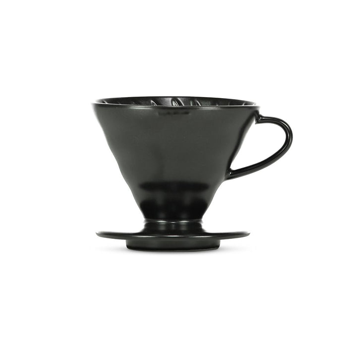 Hario V60 Ceramic Coffee Dripper Matte Black - Size 02