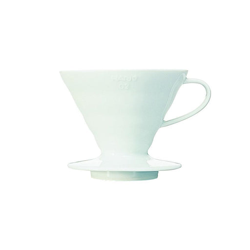 Hario Bloom V60 Ceramic Coffee Dripper White - Size 02