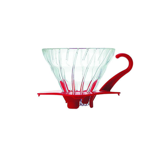 Hario V60 Glass Coffee Dripper Red - Size 01