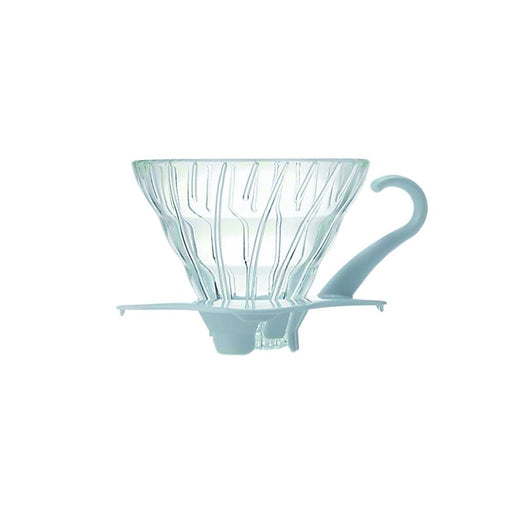 Hario V60 Glass Coffee Dripper White - Size 01