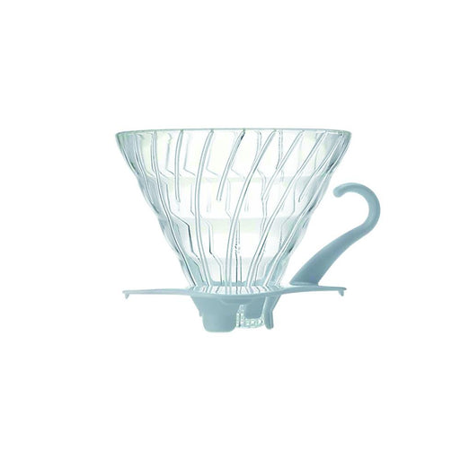 Hario V60 Glass Coffee Dripper White Size 02