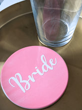 Load image into Gallery viewer, Bride Light Pink Ceramic Coaster