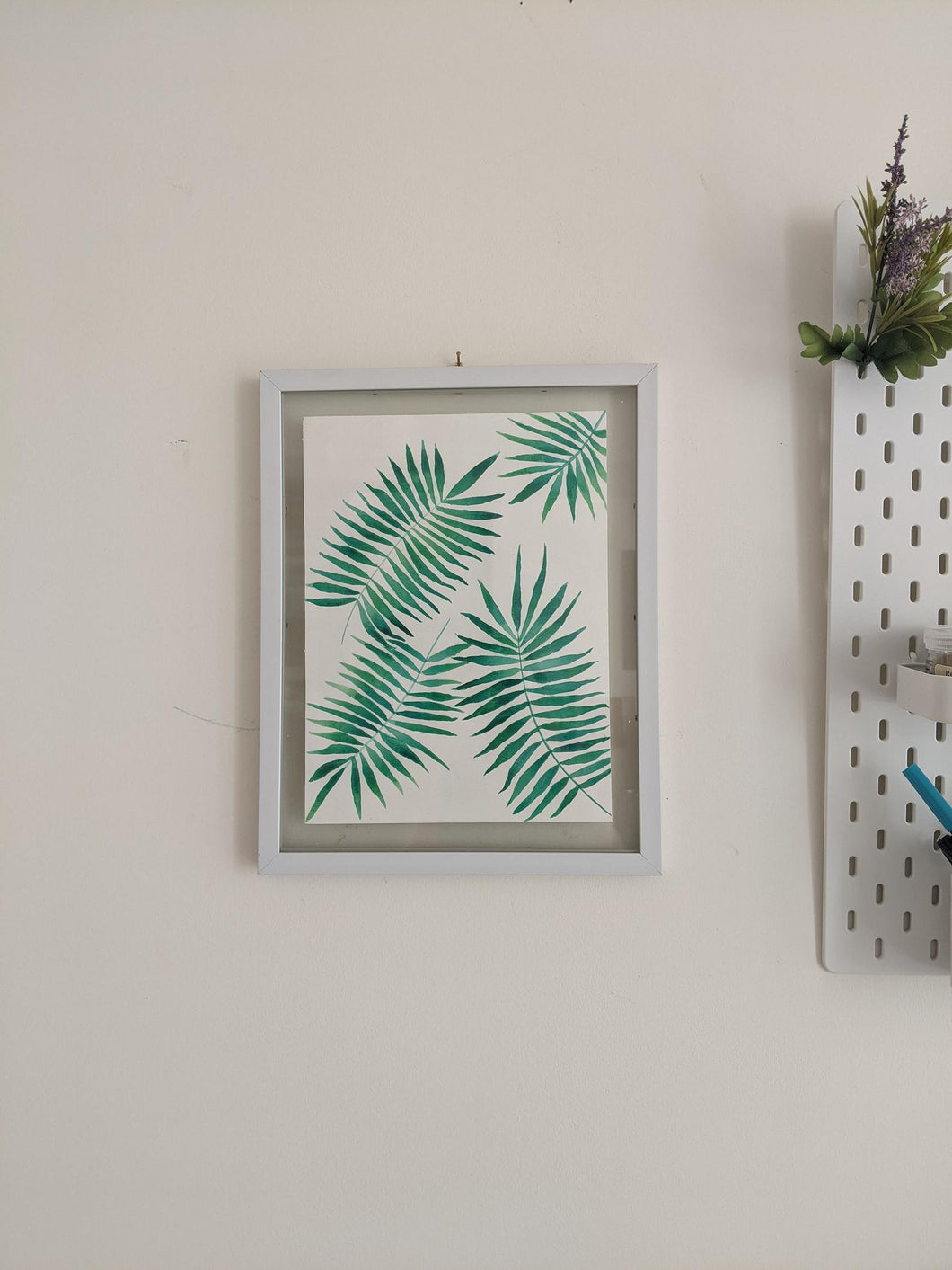 Palm Leaves Watercolour Painting