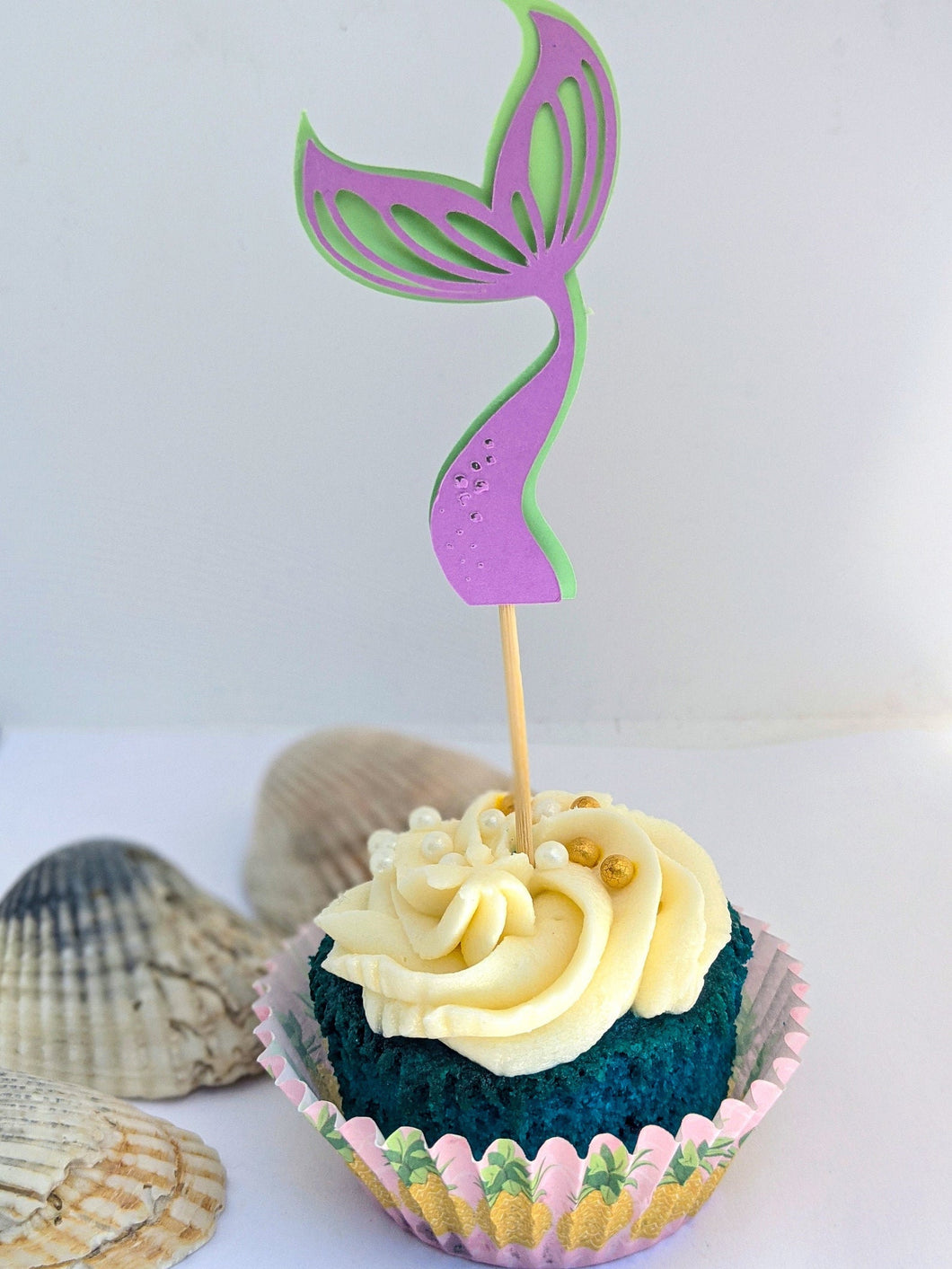 Mermaid Tail Cupcake Topper by Under the Sea Collection