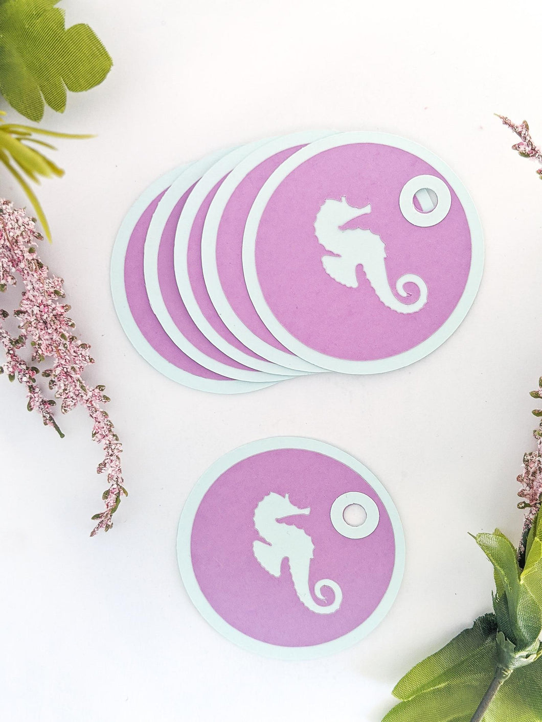 Seahorse Gift Tags with Eyelets