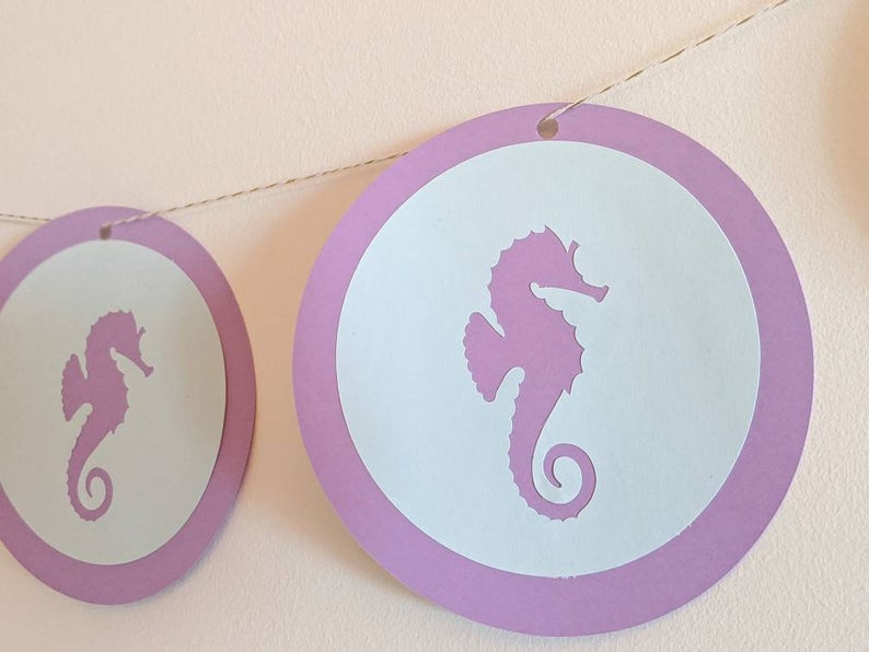 Under the Sea Party Package - Cupcake Toppers, Gift tags, Garland