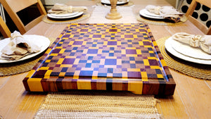Crown Royal End Grain Cutting Board