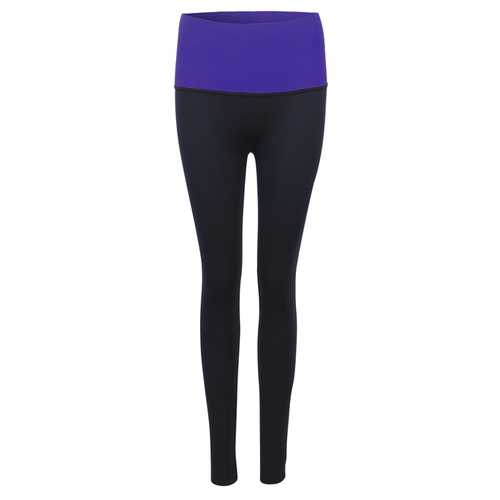 Women High Elastic Shaping Nine Pants Quick-dry Sport Leggings