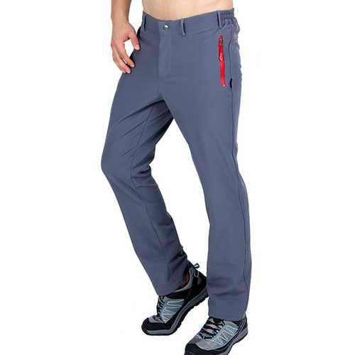 Men Winter Fleece Warm Outdoor Climbing Pants