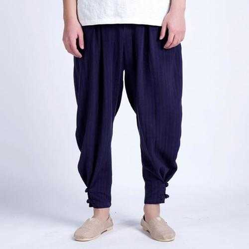 Men's Breathable Casual Small Feet Loose Haren Pants