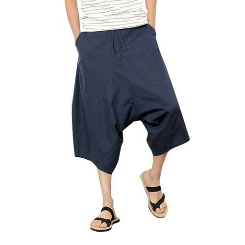 Mens National Style Casual Loose Haren Pants