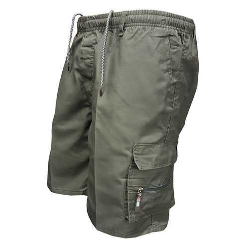 Mens Summer Multi-pocket Casual Breathable Cotton Shorts