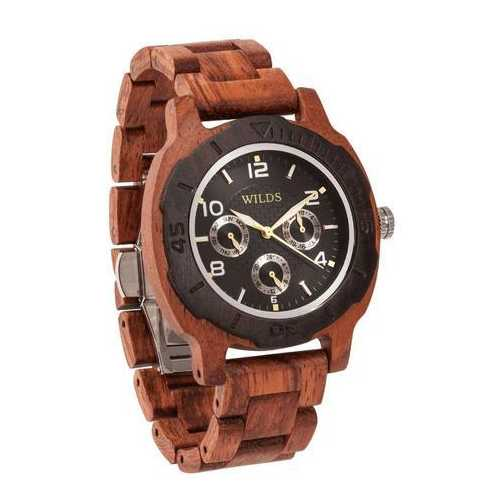 Men Multi-Function Custom Kosso Wooden Watch - Personalize Your Watch