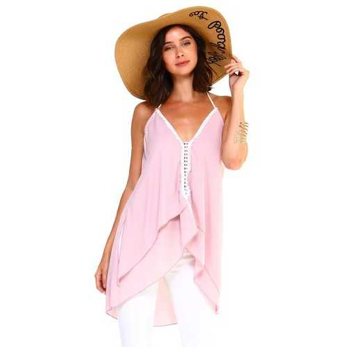 Women's Halter Flowy Layer Tank Top