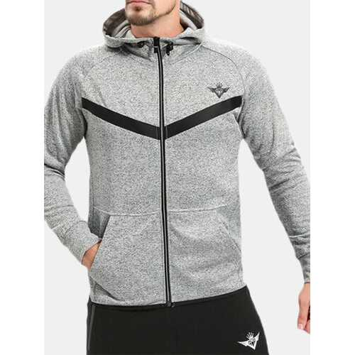 Mens Fashion Slim Fit Fitness Running Hoodie