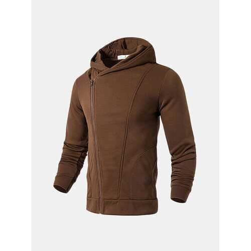 Mens Zip Up Cotton Hoodies
