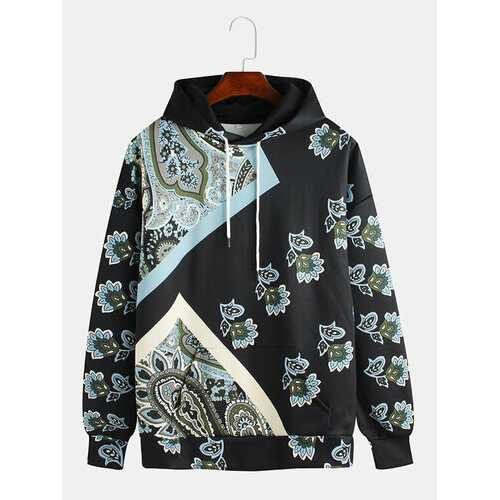 Ethnic Style Printing Floral Hoodies