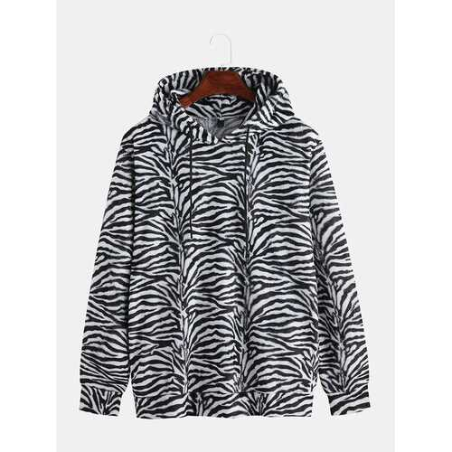 Mens Leopard Tiger Zebra Printed Hoodies