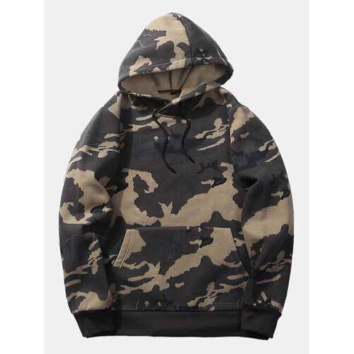 Mens Camo Printed Hoodies