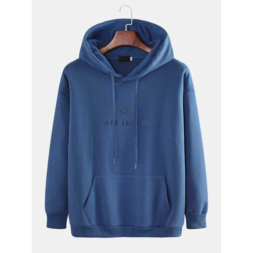 Casual Cartoon Free Island Hoodie