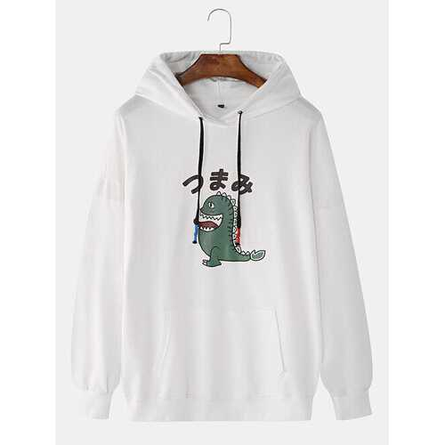 Lovely Dinosaur Cartoon Japanese Character Hoodies