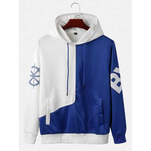 Contrast Color Pullover Hoodies