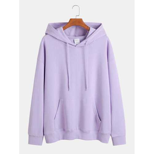Solid Basic Relaxed Fit Hoodies