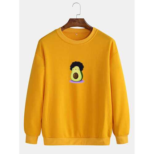 Funny Graphic Avocado Printed Sweatshirts