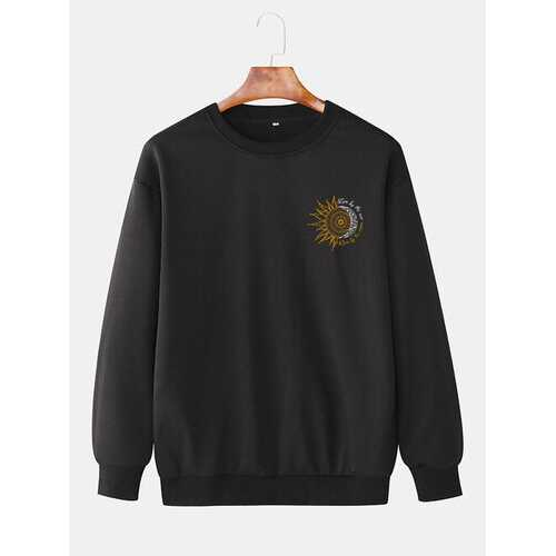 Plain Daily Loose Pullover Sweatshirts