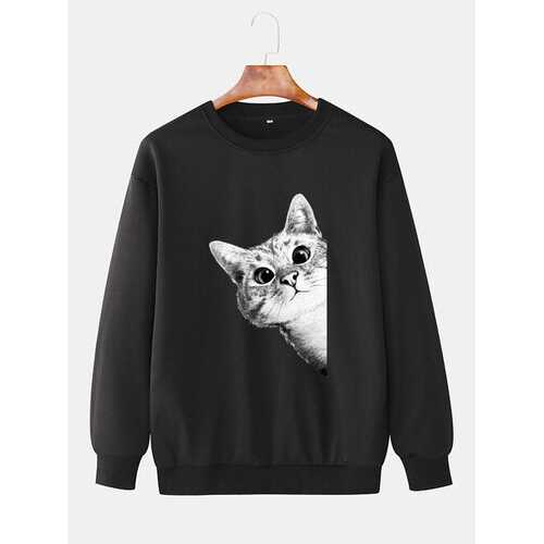 Cute 3D Cat Print Sweatshirts
