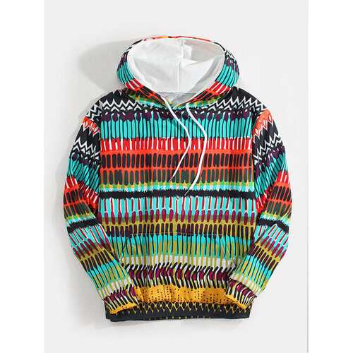 Colorful Ethnic Element Print Hoodies