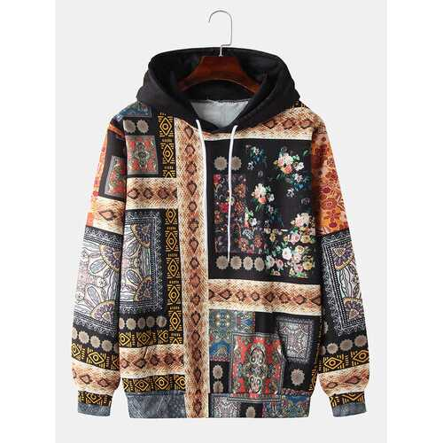 Allover Snake Ethnic Pattern Hoodies