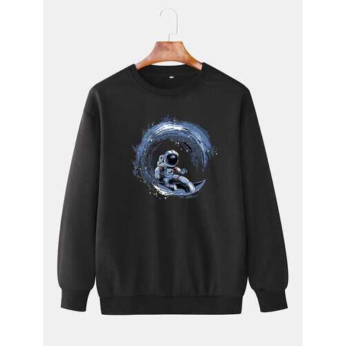 Astronaut Surf Graphic Sweatshirts