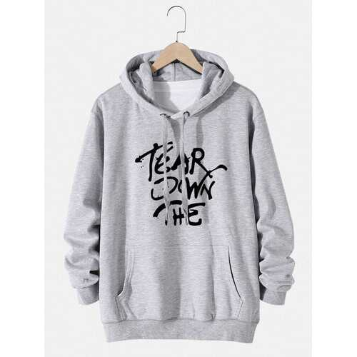 Cotton Art Letter Printing Hoodies