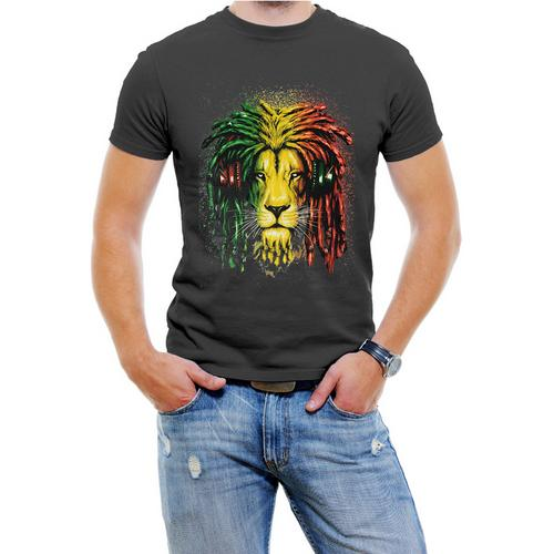 Jamica Lion Men T-Shirt Assorted Colors Sizes S-3XL
