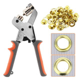 Load image into Gallery viewer, Grommet Handheld Hole Punch Pliers Grommet Machine W/ 500 Silver Grommets - Beamnova