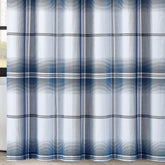 "Load image into Gallery viewer, Nolan Houndstooth Stripe 72"" Square Shower Curtain"