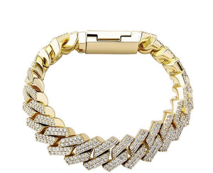 14 mm Premium Prong Bracelet - Gold