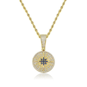 Compass Pendant - Gold