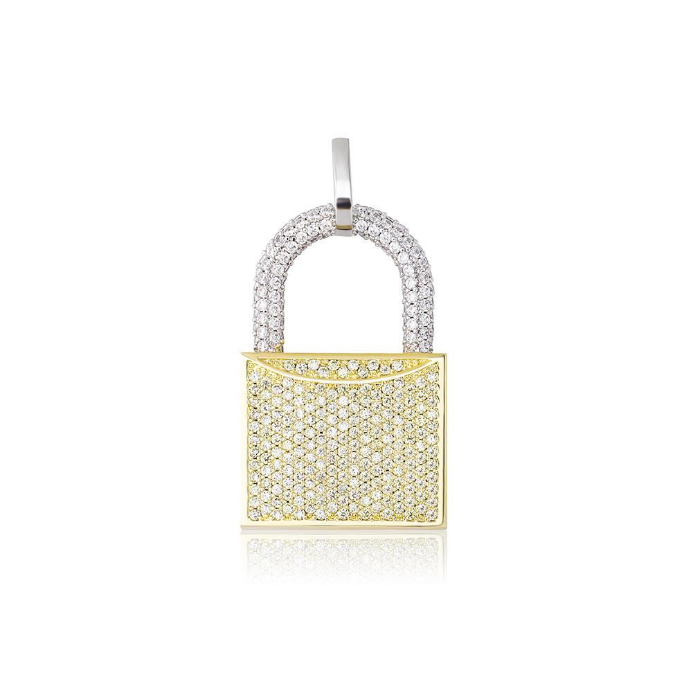 Lock Pendant - Gold