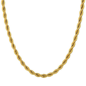 3 mm Rope Chain - Gold