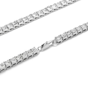 5 mm Tennis Chain - White Gold