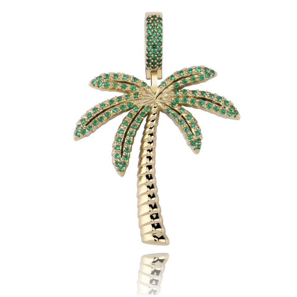 Tropical Tree Pendant - Gold