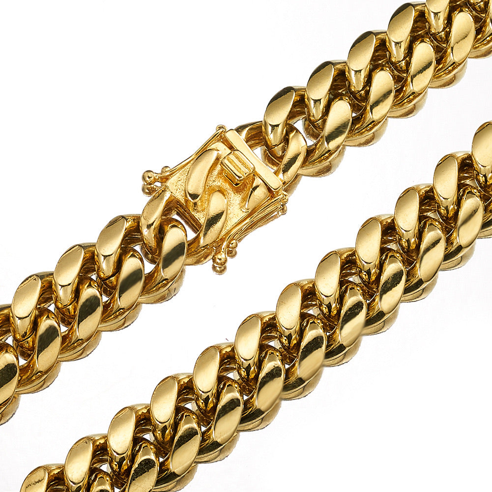 10 mm Clean Cuban Chain - Gold