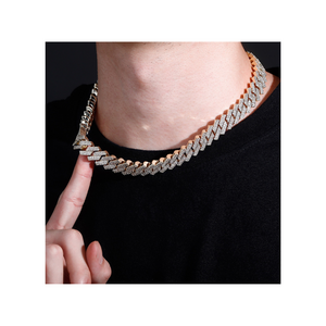 12 mm Cuban Prong Chain - Gold