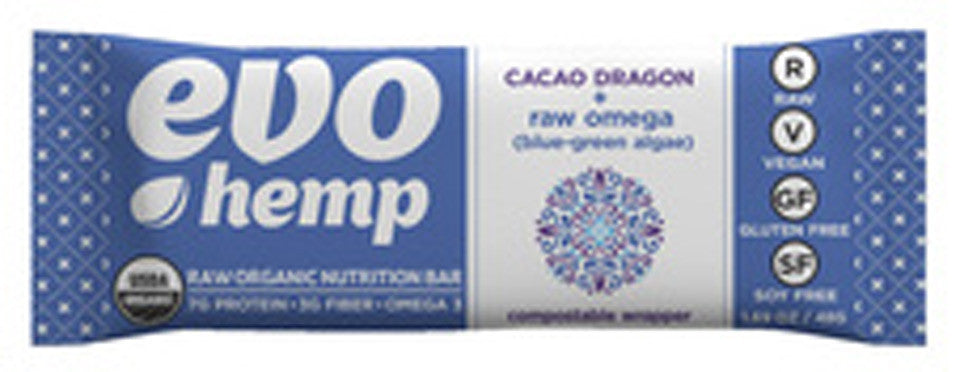 Barra de hemp - Cacao dragon. Caja de 12