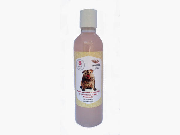 Shampoo natural de avena 250 ml.